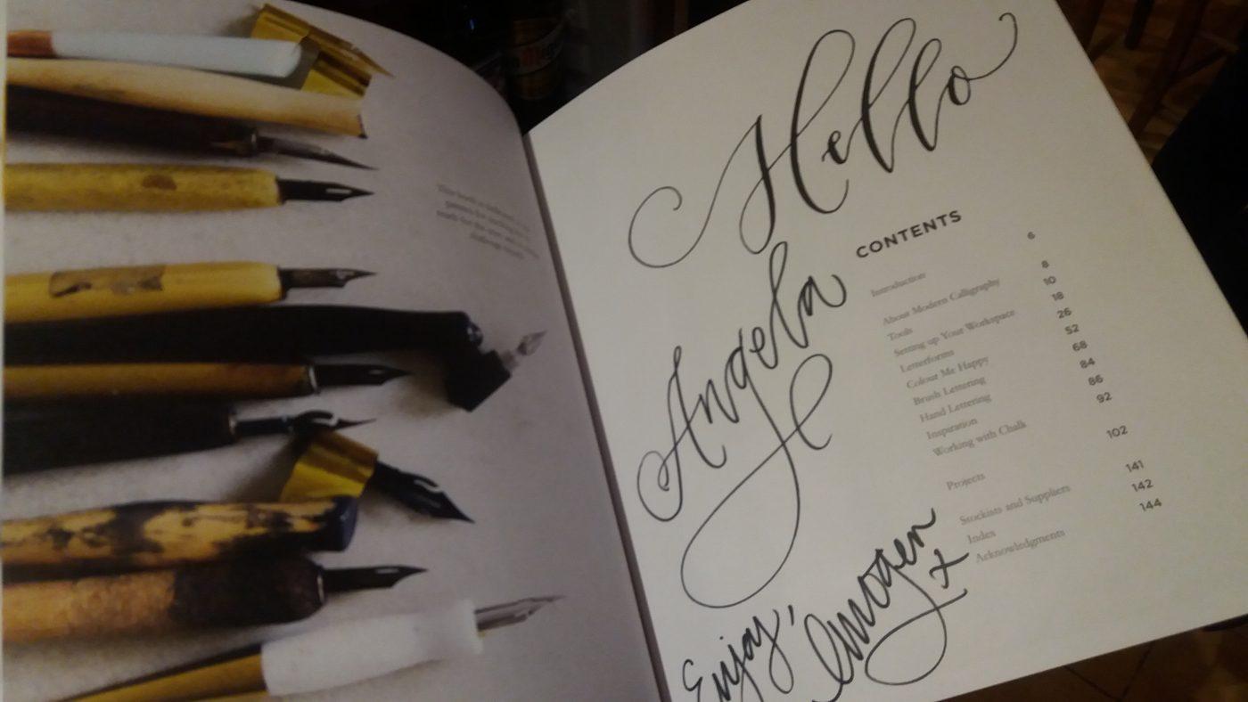 Modern calligraphy workshop author event with imogen owen