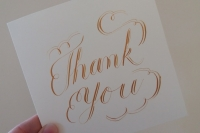 Calligraphy Thank You Card