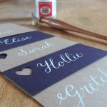 Calligraphy-friendly stationery from Razzle Dazzle Rose