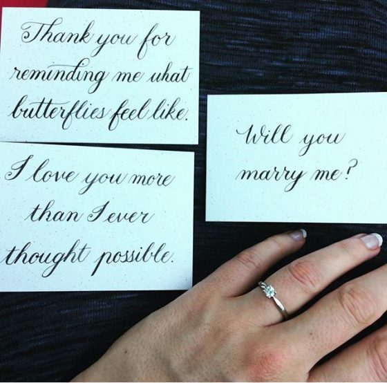 Calligraphy For A New York City Proposal Creative